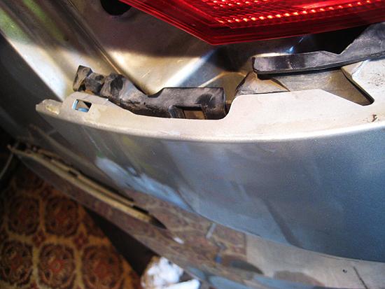 Снятие заднего бампера Форд Фокус