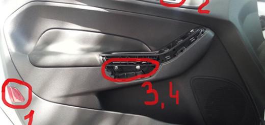 Как снять обшивку двери Форд Фиеста? Правильный демонтаж дверных карт Фиеста