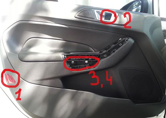Как снять обшивку двери Форд Фиеста