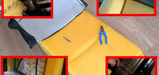 Как снять обшивку сидений на Ford Fiesta MK6 своими руками