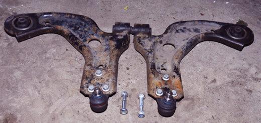 Замена сайлентблоков передних рычагов, а также шаровых опор передней подвески на Форд Фиеста
