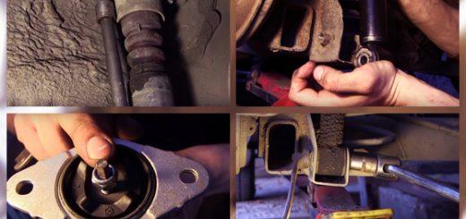 Замена задних амортизаторов на Ford Fusion своими руками