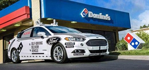 """Ford испытывает свои """"беспилотники"""" в качестве доставщиков пиццы Domino's Pizza"""